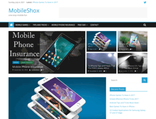 mobileshox.com screenshot