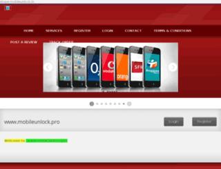 mobileunlock.pro screenshot