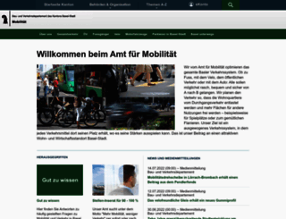 mobilitaet.bs.ch screenshot