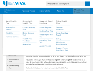 mobilityplus.yrt.ca screenshot