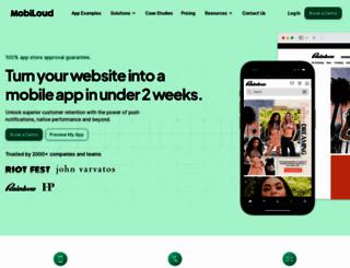 mobiloud.com screenshot