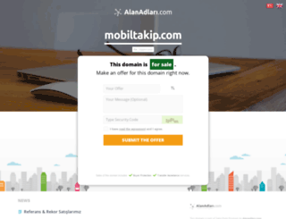 mobiltakip.com screenshot