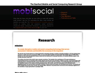 mobisocial.stanford.edu screenshot