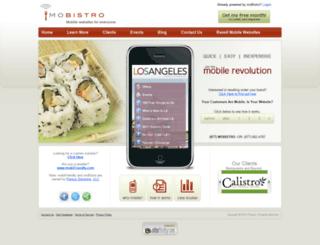 mobistro.com screenshot