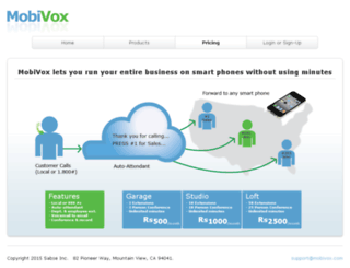 mobivox.com screenshot