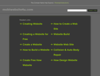 mobiwebsite4u.com screenshot
