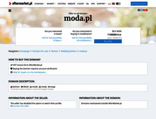 moda.pl screenshot