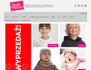 modadladzieci.com.pl screenshot