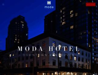 modahotel.ca screenshot