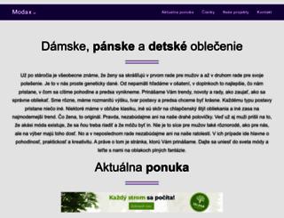 modax.sk screenshot