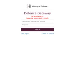 modbox.defencegateway.mod.uk screenshot