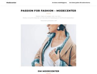 modecenter.se screenshot