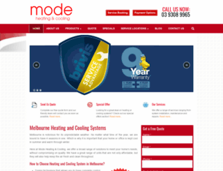 modeheatingandcooling.com.au screenshot