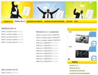 model-cv.ro screenshot