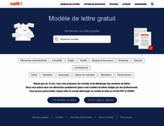 modele-lettre-gratuit.com screenshot