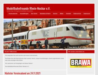 modellbahnfreunde-rhein-neckar.de screenshot