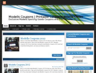 modellscoupons.com screenshot