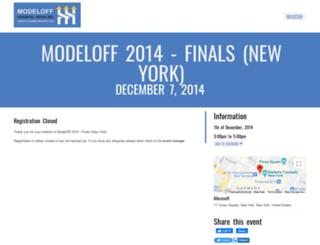 modeloff2014finals.floktu.com screenshot