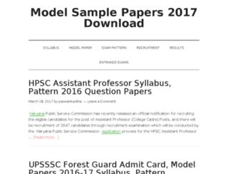 modelsamplepaper.in screenshot