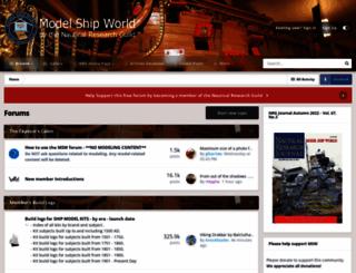 modelshipworld.com screenshot