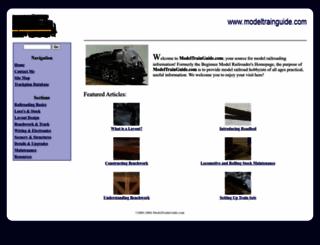 modeltrainguide.com screenshot