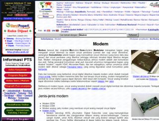 modem.web.id screenshot