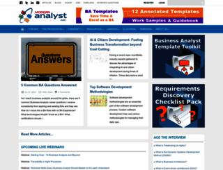 modernanalyst.com screenshot
