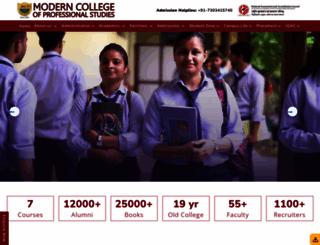 moderncollege.org screenshot