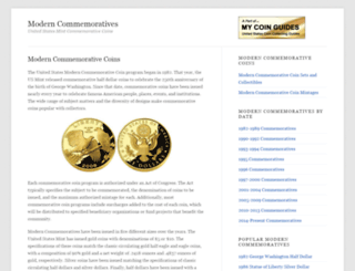 moderncommemoratives.com screenshot