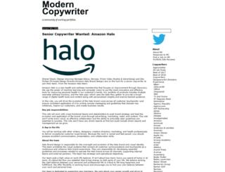 moderncopywriter.com screenshot