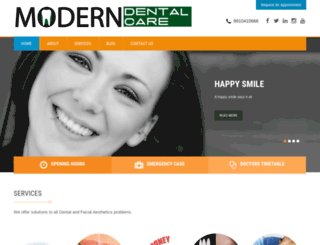 moderndentalcare.in screenshot