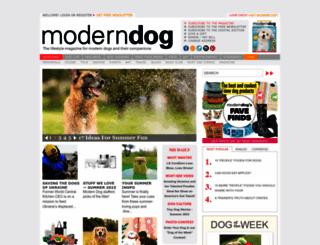 moderndogmagazine.com screenshot