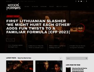 modernhorrors.com screenshot
