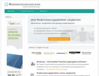 modernisierungsdarlehen.net screenshot