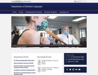modernlanguages.olemiss.edu screenshot