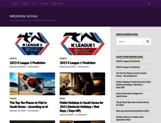 modernseoul.wordpress.com screenshot