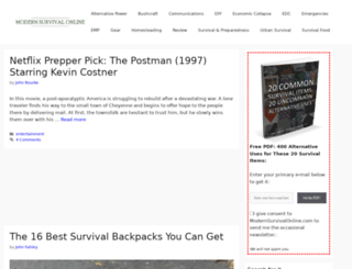 modernsurvivalonline.com screenshot