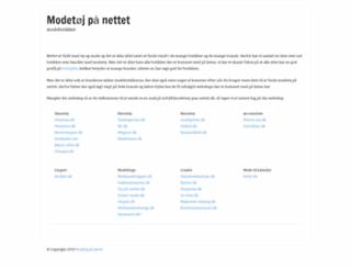 modetoej-paa-nettet.dk screenshot