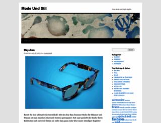 modeundstil.wordpress.com screenshot