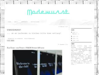 modewurst.blogspot.de screenshot