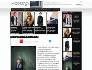 modezoo.de screenshot