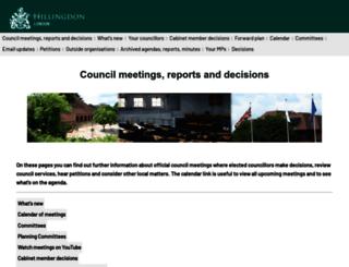 modgov.hillingdon.gov.uk screenshot