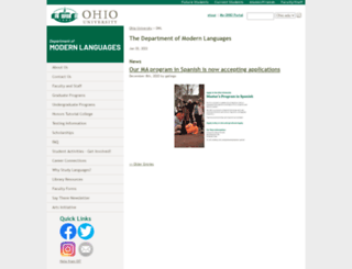 modlang.ohio.edu screenshot