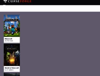 mods.curse.com screenshot