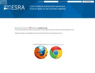 module.esra.edu screenshot