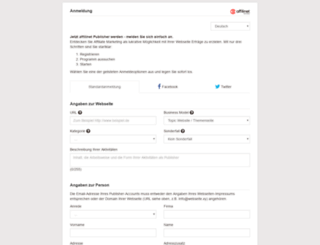 modules.affili.net screenshot