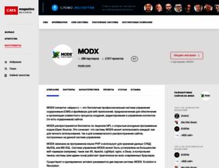 modx.cmsmagazine.ru screenshot