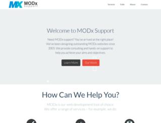 modxsupport.co.uk screenshot