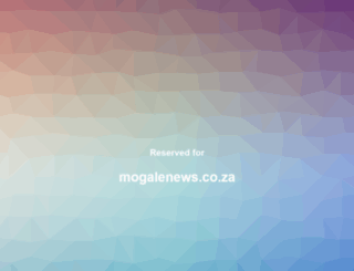mogalenews.co.za screenshot