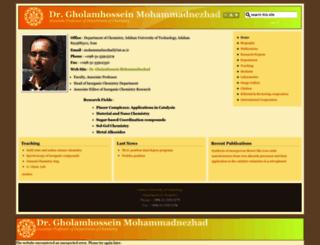 mohammadnezhad.iut.ac.ir screenshot